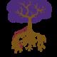 Träd med djupa rötter. Illustration.